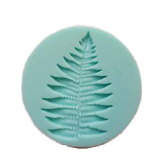 Fern leaf silicone mould, 4.8x3.3cm
