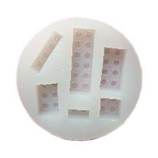 Lego blocks silicone mould, big block 4.7x1.5cm
