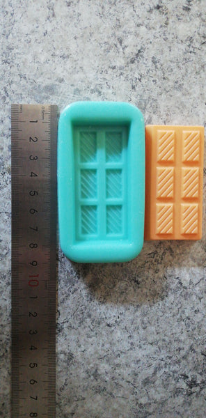 Chocolate bar silicone mould, size of bar 6.5x3.1cm