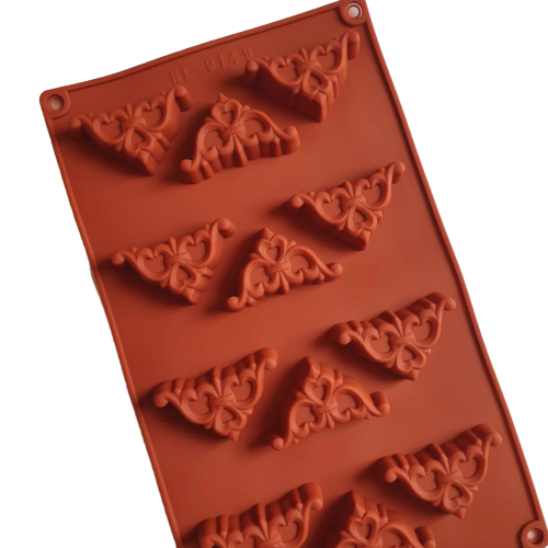 Chocolate truffle  border silicone mould, F