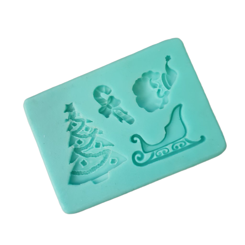 Christmas multi  Silicone fondant mould