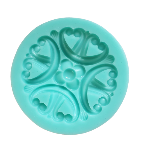 Flower Brooch silicone mould, for fondant, 5cm