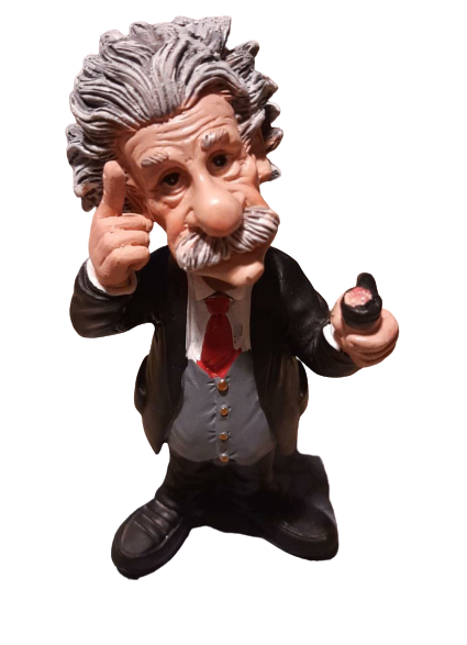 Einstein Science resin figurine 17cm, A