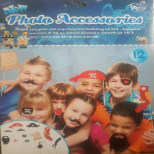 Pirate party Photo props on sticks, 12 piece