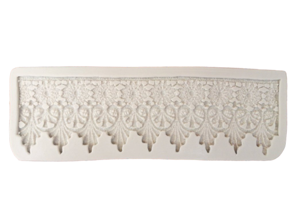Lace border H silicone mould