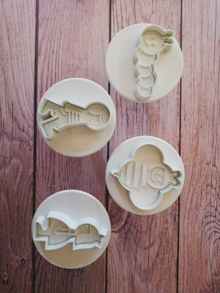 Worm, bee, boy and girl plunger cutter