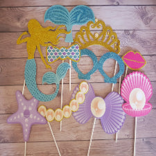 Mermaid under the sea party photo props or party decor
