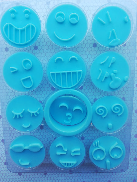 Emoji cookie cutter and impression set