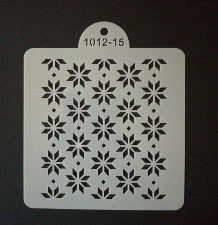 Cake decorating stencil, 10x10cm, 1012-15