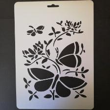 Butterfly A4 cake stencils, G