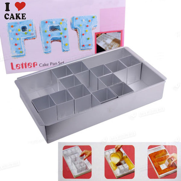 Letter number shape cake pan