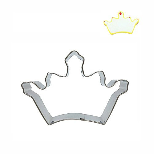 Princess Crown cookie cutter metal, 6x6cm, B