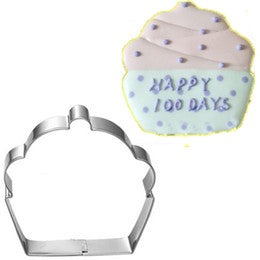 Cupcake metal cookie cutter, 7.5x7.5cm