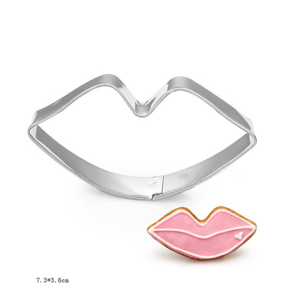 Lips metal cookie cutter, 8x4cm