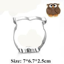 Owl cookie cutter metal, 7x6.5cm, A
