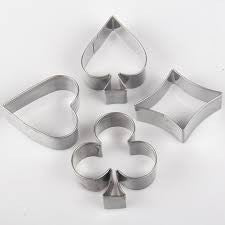 Metal poker set metal cookie / fondant cutter