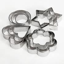 Metal Fondant cutters, cut fun shapes from rolled fondant
