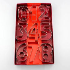 Numbers Fondant / cookie Cutter metal 8cm