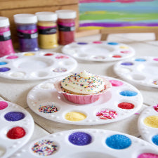 White cupcake Paint palette