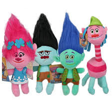 Trolls Plush toys 4 piece set, MEDIUM, 28cm