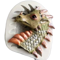 Game of Thrones Dragon C silicone mould, 7.2x6.5cm