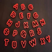 Alphabet fondant/cookie cutters (5cm) alphabet