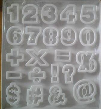 Numbers fondant/cookie cutters (5cm)