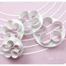 Fondant Apple blossom Rose flower cutter, 4 piece