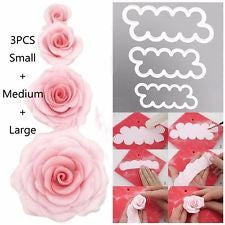 Easy Rose fondant cutter, 3 PIECE SET