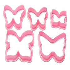 5 Piece Butterfly plastic cookie cutters