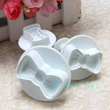 Bow Fondant plunger Cutter 3 piece set-A