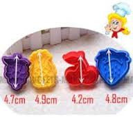 fruit cookie/ Fondant plunger Cutters set of 4