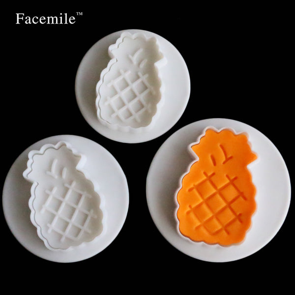 Pineapple plunger cutter set, 5x3cm, 4x2.5cm, 3x2cm
