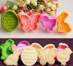 Easter fondant / cookie plunger cutter set