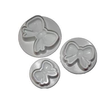 Bow Fondant plunger Cutter 3 piece set-B