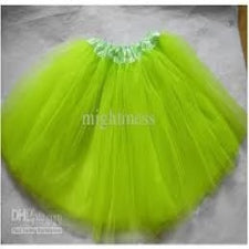 Girls tutu skirt - green 30cm, kiddies