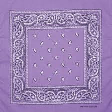 Purple headband /  party bandana - perfect for cowboy party 54x54cm