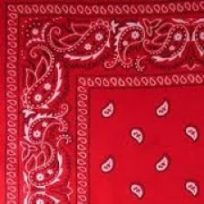 Red headband /  party bandana - perfect for cowboy party  54x54cm