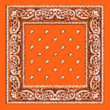 Orange headband /  party bandana - perfect for cowboy party  54x54cm