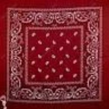 Red headband /  party bandana - perfect for cowboy party, DARK red (maroon) 54x54cm