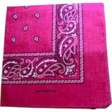Dark Pink B headband /  party bandana - perfect for cowboy party  54x54cm