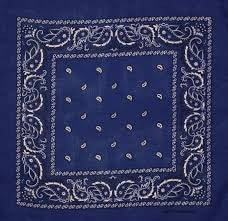 Dark blue headband /  party bandana 54x54cm ( not purple)