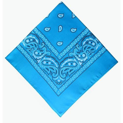 Light blue B headband /  party bandana 54x54cm