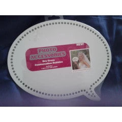 Dry erase conversation bubble, photo accesories 20x25cm, photo prop