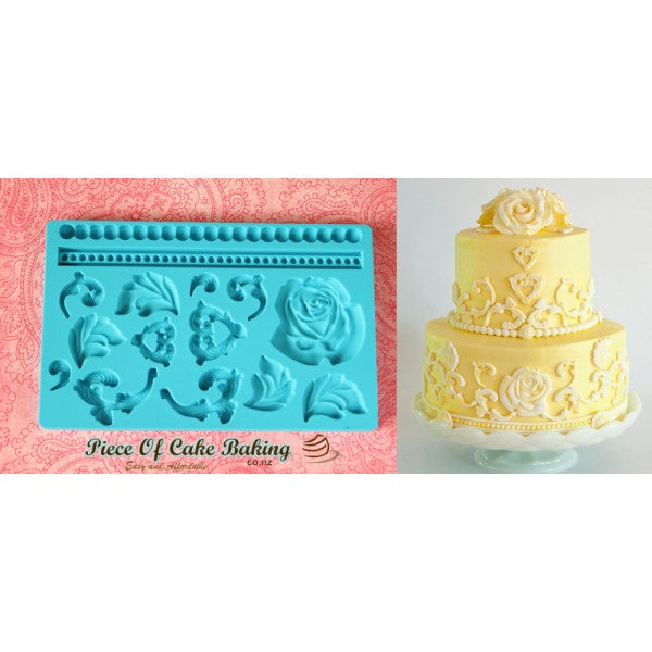 Silicone fondant / sugar paste mould flower leaves