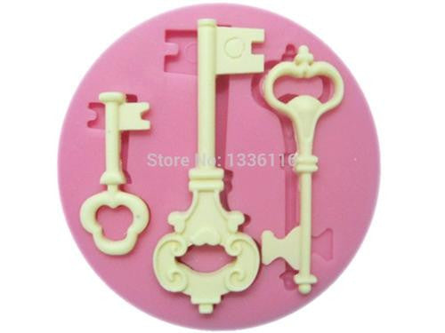 Keys silicone mould, for fondant, size of mould 7cm