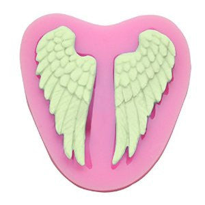 Angel wings silicone mould, for fondant, size of mould 7x7cm