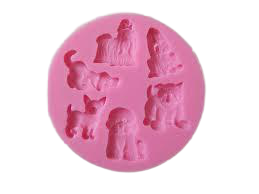 Silicone doggy fondant mould, size of mould 9cm