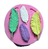 Silicone feather fondant mould, size of mould 9cm