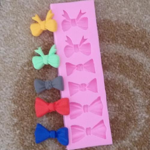 Silicone fondant bow mould-A